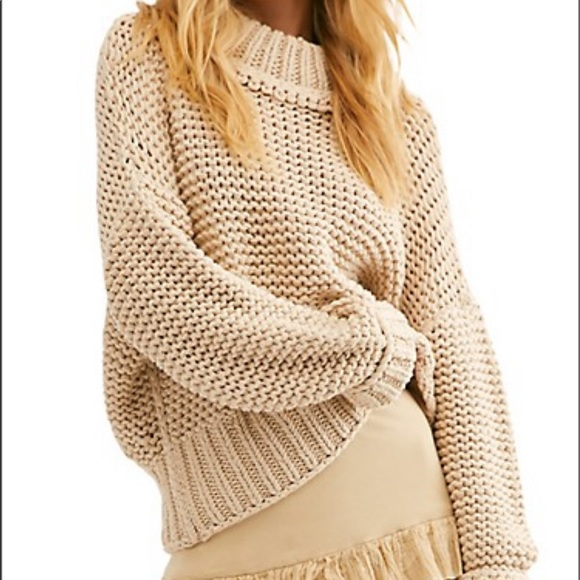 Free People Cotton Blended Sweater